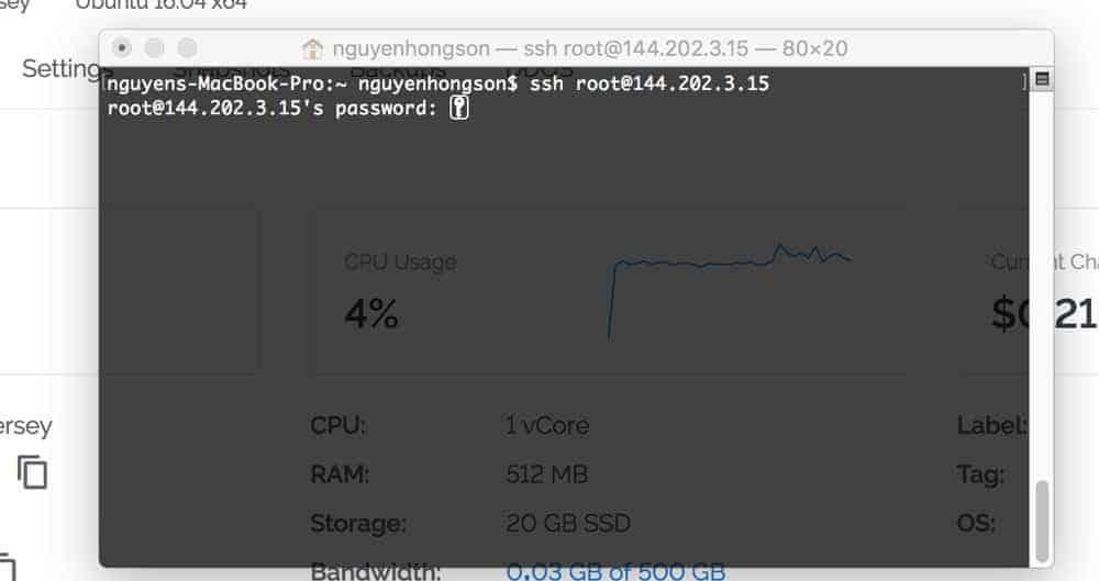 đăng nhập vps bằng ssh