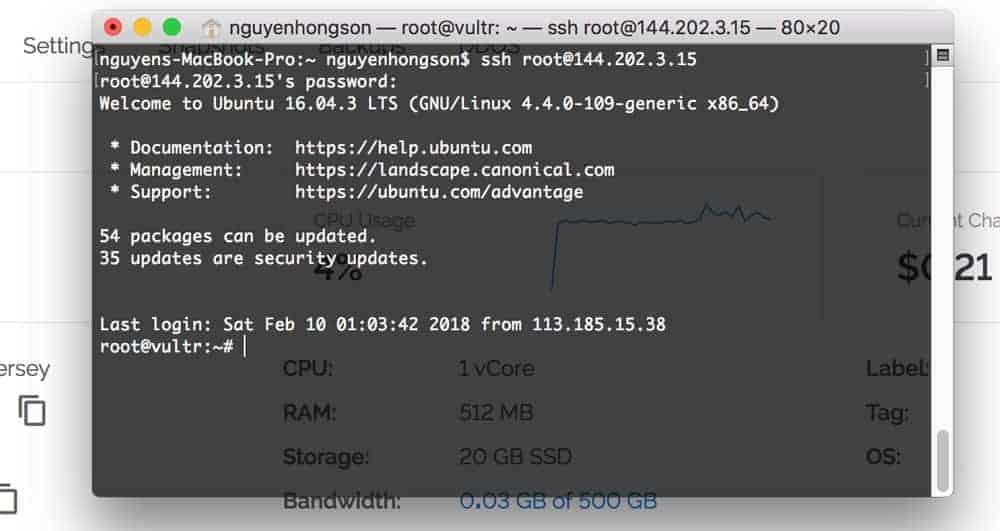 Cách đăng nhập VPS bằng SSH trên MAC OS