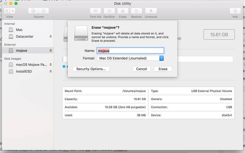 cài macOS mojave lên máy Mac không được hỗ trợ hình 1
