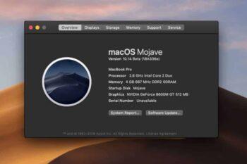 cài macos mojave lên mac không được hỗ trợ