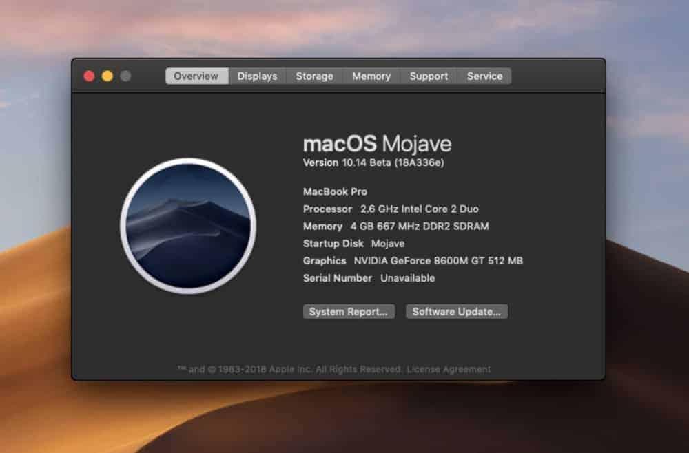 Cách cài macOS mojave lên máy Mac không được hỗ trợ 2