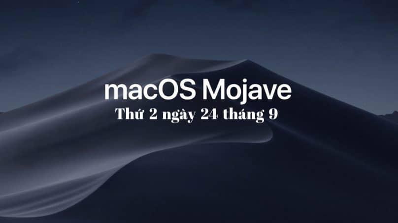 macOS mojave bản chính thức
