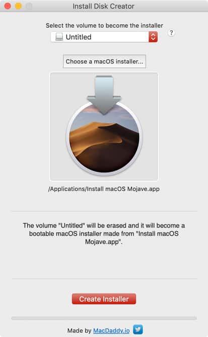 Tạo bộ cài USB macOS Mojave Hình 1