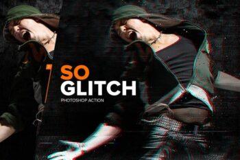 SoGlitch Photoshop Action