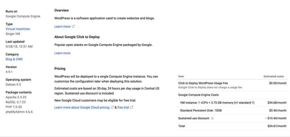 cài wordpress lên google cloud