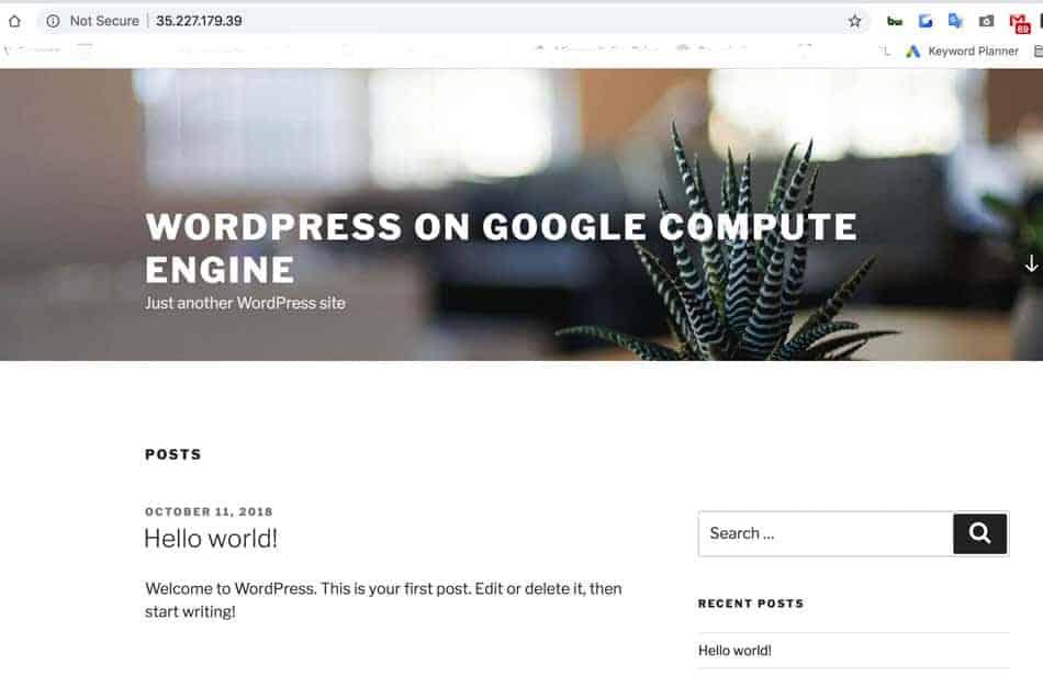 Cách cài Wordpress trên Google Cloud Platform nhanh nhất 5