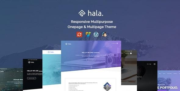 Theme wordpress miễn phí trên themeforest Hala