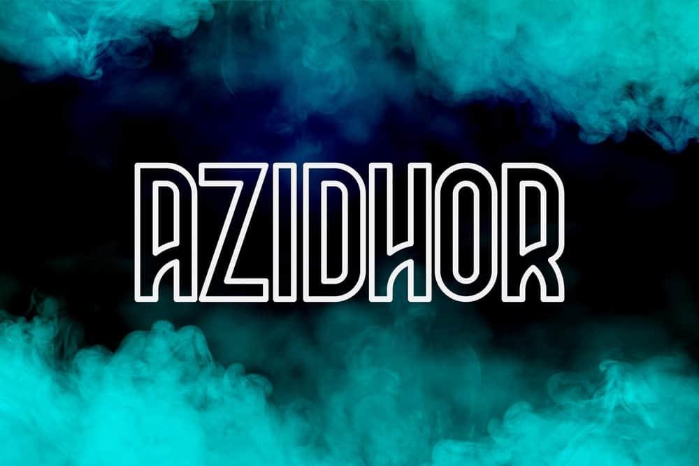 Evanto Element miễn phí tháng 11 - Azidhor Font