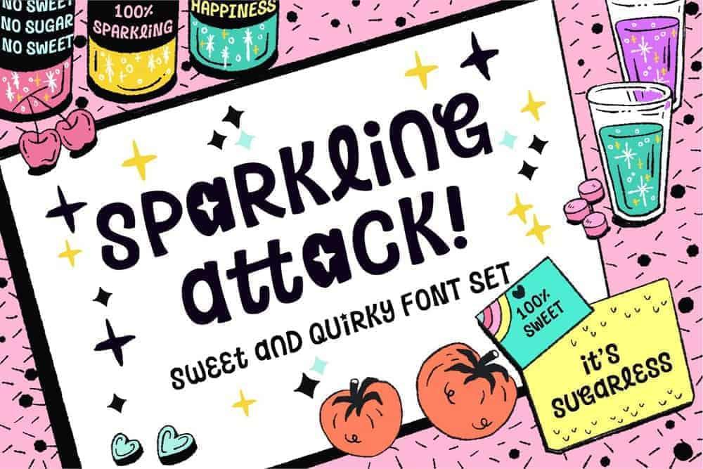 Sparkling Attack Font 1