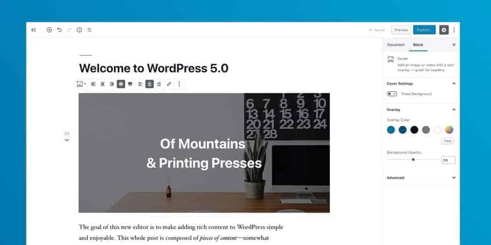 Worpress 5.0 có gì mới? 1
