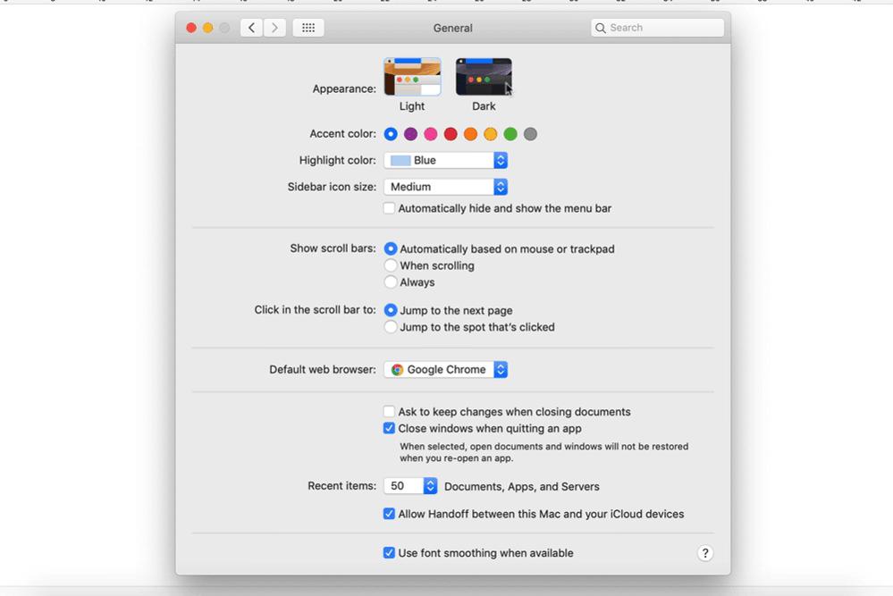 Bật chế độ darkmode trên macOS