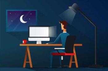 sử dụng Mac vào ban đêm