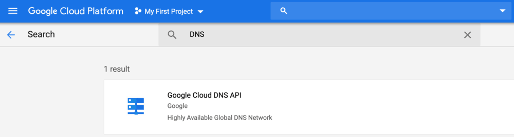 Google cloud DNS API