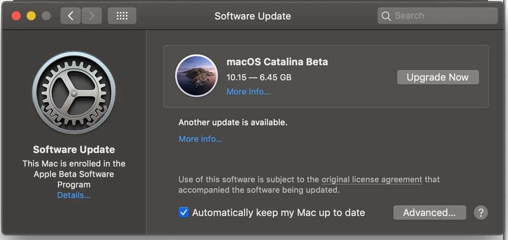 Cách cài đặt macOS 10.15 Catalina Public Beta 4