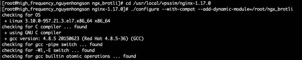 Cài đặt Brotli cho Nginx trên CentOS 7 [VPSSIM] 1