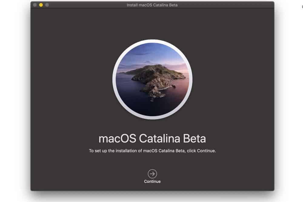cài đặt macOS Catalina