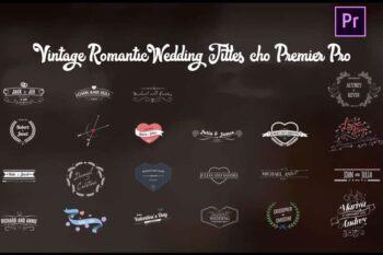Vintage Romantic Wedding Titles cho Premier Pro