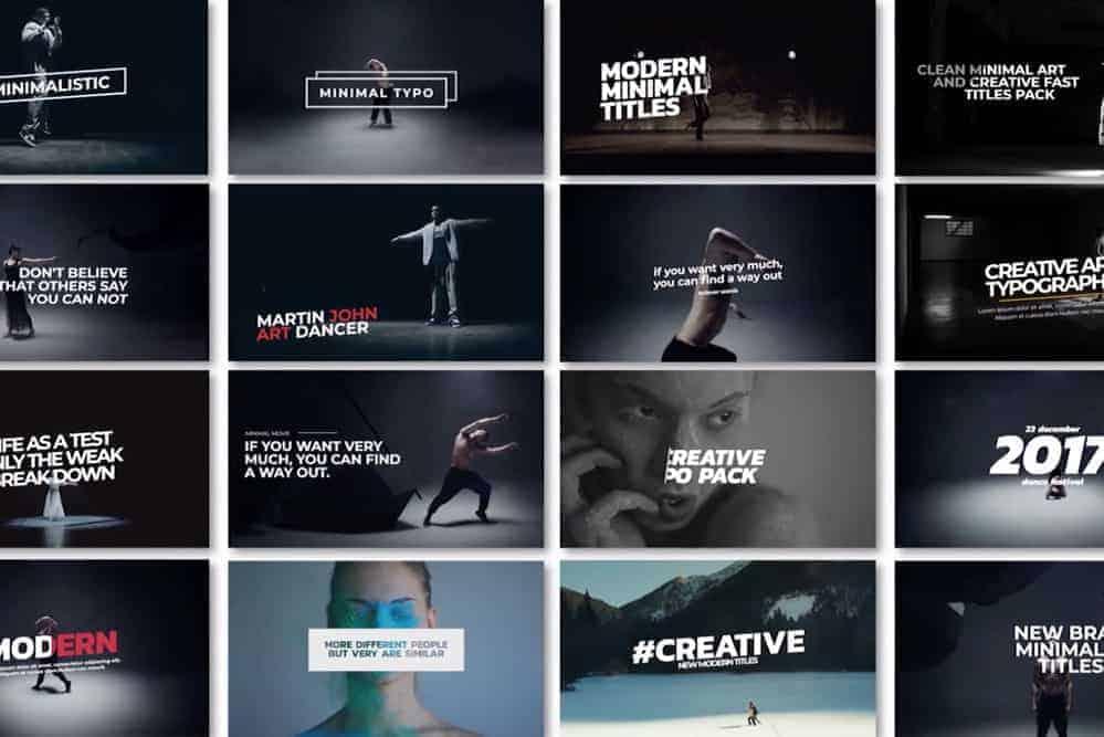 16 Minimal Art Titles cho Premier Pro