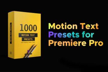 1000 Motion Text Preset cho Premier Pro
