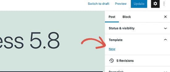 create new blocks template